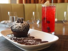The Cupcake. The perfect dessert at Harth Restaurant