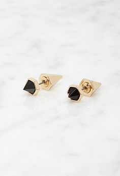 Spike and Faux Stone Combo Studs | Forever 21 - 1000172699