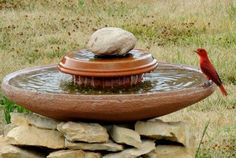 Diy Water Feature Pond Less Waterfall This Would Make A Great Bird Bath Too For Hummingbirds Cotcozy