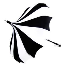 Bella Umbrella Pagoda - Black and White Striped Pinwheel