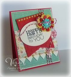 Card by Amber Hight using Verve Stamps.
