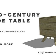 Free DIY Furniture Plans //  How to Build a Mid Century Modern Side Table