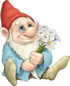 Loving Gnome. An illustration featuring a gnome sitting with a bouquet of flower , #Aff, #illustration, #featuring, #Loving, #Gnome, #bouquet #ad Точечная Живопись, Узоры Для Резьбы По Дереву, Сказочные Двери, Феи, Наклейки, Творчество, Dibujo