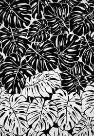 printed textile design // illustration, black and white, aesthetics // Motifs Textiles, Textile Prints, Leaf Prints, Textile Design, Art Prints, Textile Art, Fabric Design, Print Design, White Patterns