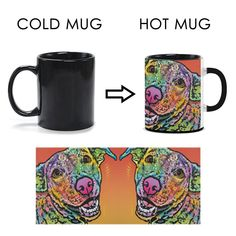 Labrador Heat Activated Mugs III - Dean Russo Art
