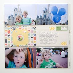 itsmeamanda : our project life: Disney World Album : Project Life Style