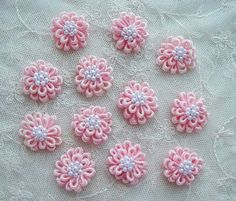 Flowers 12pc Shabby Chic Baby Doll Pink by delightfuldesigner, $2.99