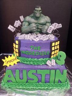 Groomcake! http://www.thescottsdalebakery.com/incredible-hulk-cake-2/