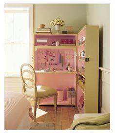 Blog de Decorar: Pegue o passo-a-passo e faça este lindo e organizado: Home-office-de-maleta-gigante! rs