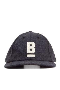 B Flat Wool Cap Charcoal – Bridge   Burn Flat Hats 76536185baa3
