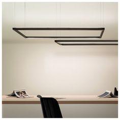 The Spigolo Horizontal suspension led lamp by Nemo Lighting, Price Match Guarantee! STUDIOCHARLIE. Pendant lamp based on an extruded and tubular alumi…