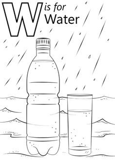 Letter W is for Water coloring page from Letter W category. Select from 26388 printable crafts of cartoons, nature, animals, Bible and many more.