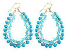 Happy Tear Drops oorbellen Turquoise | InTu jewelry design