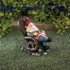 Solar Red Bird Rocking Chair Gnome #garden Decor #solar #gnome $13.50 #new