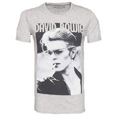 Nicht nur für Fans ein Must-have! Cooles T-Shirt mit David Bowie Print ab 24,90 € Hier kaufen: http://www.stylefru.it/s303984 #grau #Oberteil #Maennermode