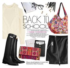 """""""Back to school"""" by punnky ❤ liked on Polyvore featuring TEM, Dsquared2, Alexander McQueen, Marc Jacobs, Hermès, Bobbi Brown Cosmetics and Selima Optique"""