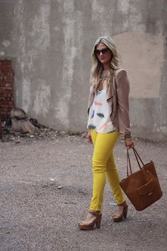 Feathers & Yellow (by Devon D) http://lookbook.nu/look/3354337-Feathers-Yellow