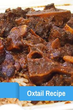 Jamaican Oxtails and Beans Recipe - Jamaican Articles Worth Reading - Oxtail recipes Jamaican Desserts, Jamaican Dishes, Jamaican Recipes, Guyanese Recipes, Jamaican Cuisine, Haitian Food Recipes, Fish Recipes, Great Recipes, American Food Recipes