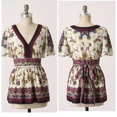 """Lil Indian Anthropologie Khorsow tunic top Item: Lil Indian for #Anthropologie paisley Khorsow toe back tunic top. Just stunning and like new  Size: 6  Measurements: bust 18"""" across length 28"""" Anthropologie Tops Tunics"""