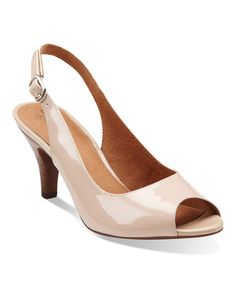 Look what I found on #zulily! Nude Cynthia Fest Leather Slingback by Clarks #zulilyfinds