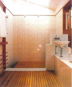 Bathroom - Donovan Hill Japanese Bathroom, Prefabricated Houses, Brick Block, Architect House, Joinery, Beach House, Tiles, Bathtub, Architecture