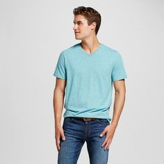 Men's V-Neck T-Shirt Teal (Blue) Xxl - Mossimo Supply Co.
