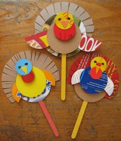 Preschool Crafts for Kids*: Thanksgiving Cereal Box Turkey Puppet Craft