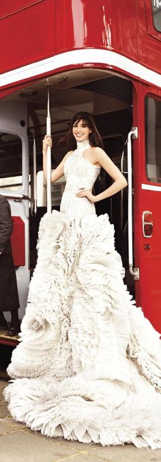 ~Anne Hathaway Wearing Alexander McQueen in London ~ Harper's Bazaar Editorial | House of Beccaria#