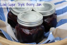 If you would like to give the gift of homemade jam this winter but don't have any berries in your freezer, this recipe uses a bag of frozen fruit from Costco, is low sugar {without adding sugar substitutes} and was still good enough to win a blue ribbon...