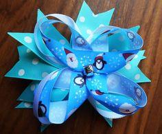 CLEARANCE SALE, Girls hairbow, blue hair bow, christmas hairbow, hair clip, scrunchie