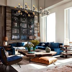 """I wanted to live in a place that was as organic, nature-friendly, and peaceful as possible while still living in New York,"" says Jason Pickard, a Manhattan-based portfolio manager. With help from designer @fordhuniford, he achieved just that. Tour the serene apartment on archdigest.com. Photo by Nick Johnson"