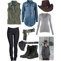 Casual Cosplay Carl Grimes (The Walking Dead) Walking Dead Cosplay, Walking Dead Costumes, Walking Dead Clothes, Carl The Walking Dead, Carl Grimes, Zombie Apocalypse Outfit, Apocalypse Survival, Fandom Outfits, 5sos Outfits