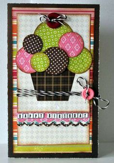 Adorable cupcake card! i have to try this when i start making home made cards!
