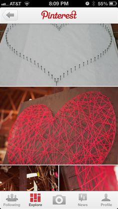 DIY artwork. LOVE THIS! Needles and yarn