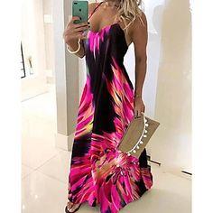 LightInTheBox - Ruhák, otthon & kert, elektronikai cikkek, menyasszonyi ruhák és kiegészítők online áruháza Women's A Line Dresses, Blue Dresses, Short Sleeve Dresses, Summer Dresses, Maxi Dresses, Womens Swing Dress, Spaghetti Strap Dresses, Mode Outfits, The Dress
