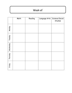 ... School Daily Schedule Template | Weekly lesson plans template