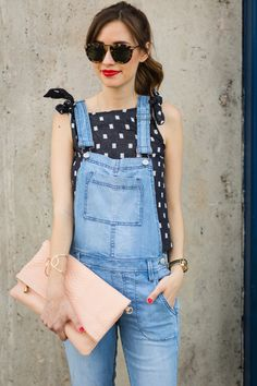 Image Via M Loves M in the Level 99 Lily Overalls and Tiled Midi Tank Cute Overalls, Denim Overalls, Dungarees, Mom Outfits, Cute Outfits, Denim Fashion, Womens Fashion, Maxis, Spring Summer Fashion