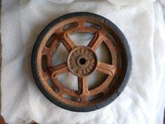 Rusty Old Wheel Great States 400 Reel Mower - Rustic Decor, $14.99 in MendozamVintage on Etsy