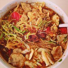 Jakarta street food soto mie made by me