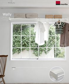 An idea for the kids bedroom or playroom. Clothes Drying Racks, Diy Interior, Kids Bedroom, Valance Curtains, Playroom, Tiny House, Home Decor, Furnitures, Craft