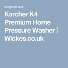 Karcher Premium Home Pressure Washer Washer, Home, House, Washers, Homes, Houses