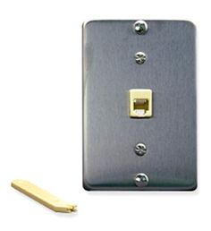 ICC ICC-IC630DA6SS Wall Plate IDC 6P6C STAINLESS STEEL