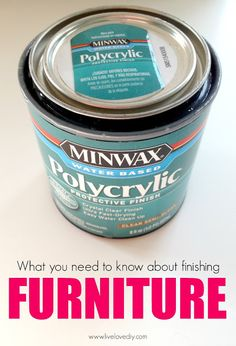 If you need your paint job to be durable, go with polycrylic. Polycrylic is great because it's durable like Polyurethane, but it doesn't yellow over time and it's really low-odor. To apply your polycrylic, just brush it on with a high quality paint brush. I did 2 coats, allowing it to dry for several hours in between.