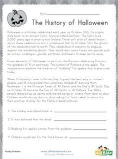 Halloween Reading Worksheet