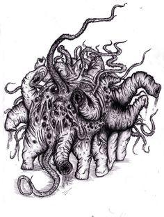 Lovecraft - Creature of Dunwich by KingOvRats.deviantart.com on @deviantART