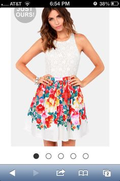Floral adorable from lulus.com