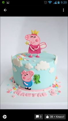 Tortas 2 Oli Tortas 2 Oli Peppa Pig is a Indian preschool super-hero television Tortas Peppa Pig, Bolo Da Peppa Pig, Peppa Pig Birthday Cake, Cool Birthday Cakes, 3rd Birthday, Birthday Celebration, Pig Party, Novelty Cakes, Cake Designs