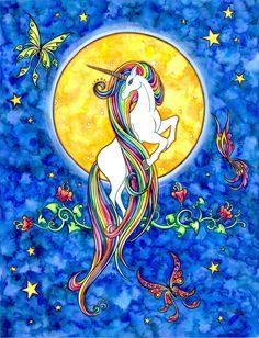 Unicorn with rainbow hair!