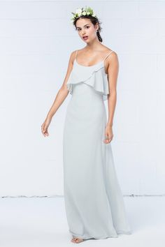 Wtoo Style 301 by Watters Bridesmaid Dress - Inna Chiffon Classic Bridesmaids Dresses, Vintage Bridesmaid Dresses, Designer Bridesmaid Dresses, Vintage Dresses, Prom Dresses, Bridesmaid Gowns, Sheath Wedding Gown, Maxi Gowns, Affordable Dresses