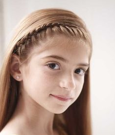 french braid headband for little girls.  Maybe with a flower clipped into their hair?